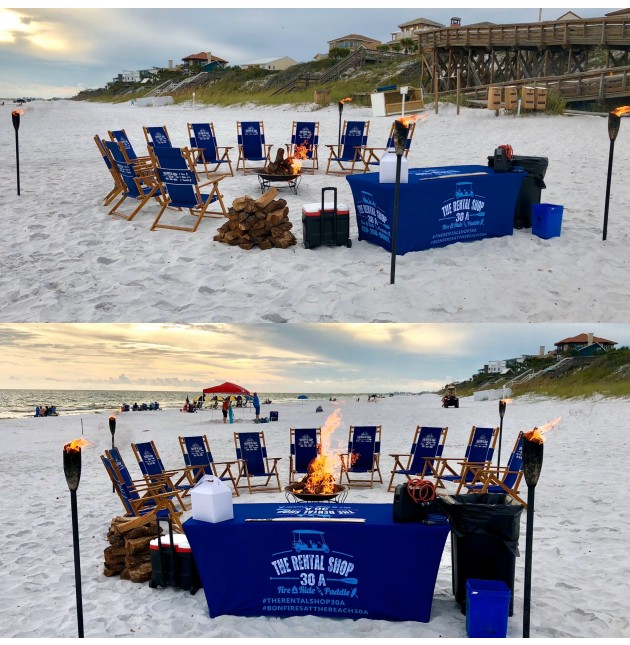 10 Beach Chair Bonfire Package - Noahs Package