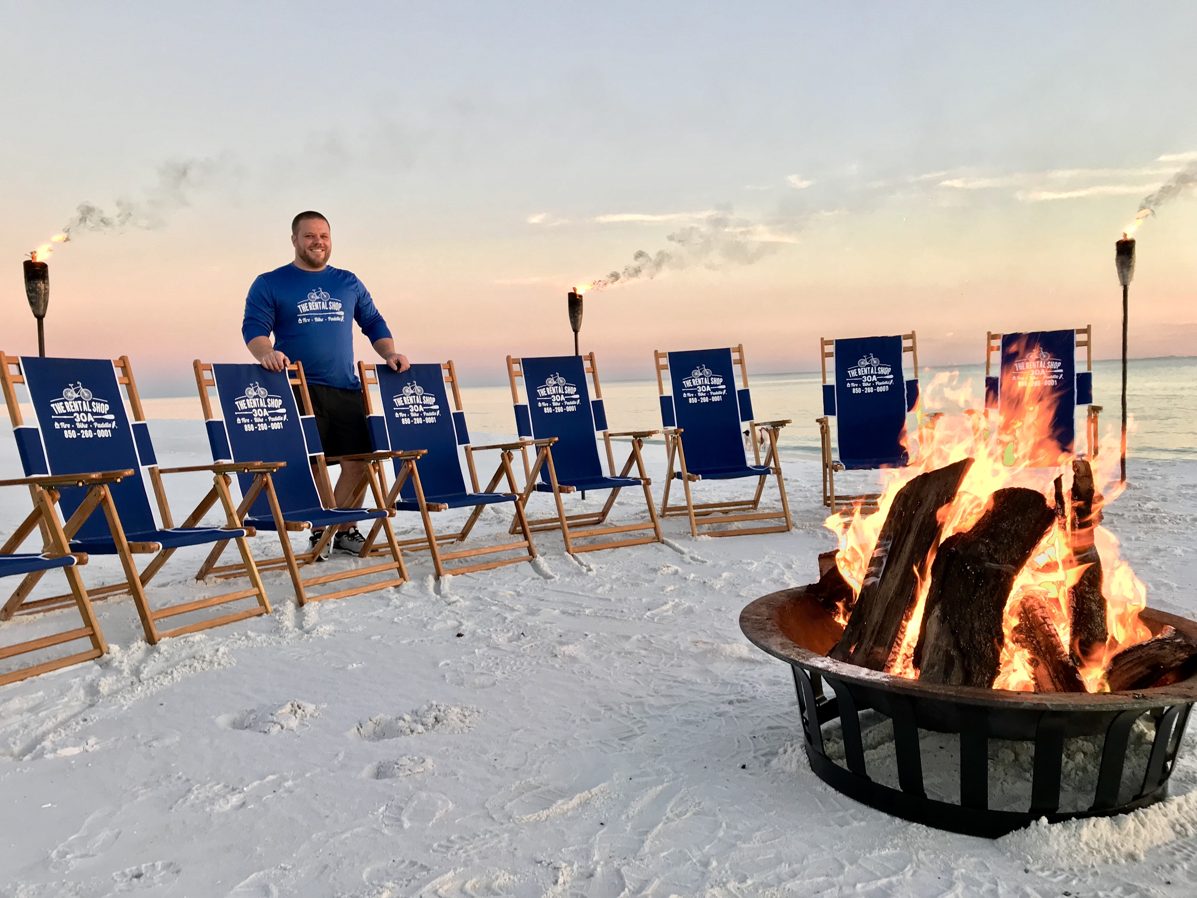 BEACH BONFIRES BY THE RENTAL SHOP 30A