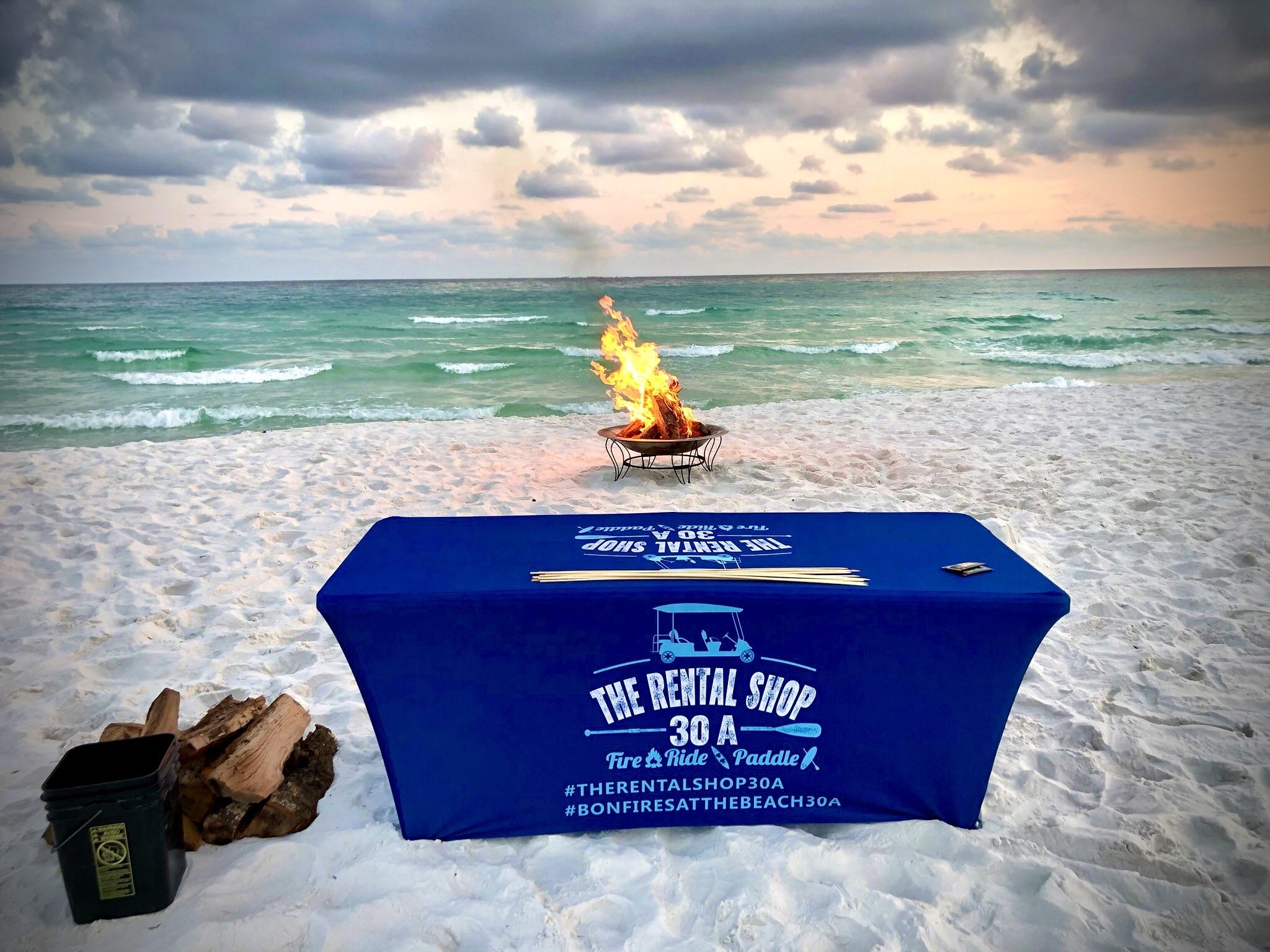 30A Beach bonfires in Santa Rosa Beach Florida by The Rental Shop 30A