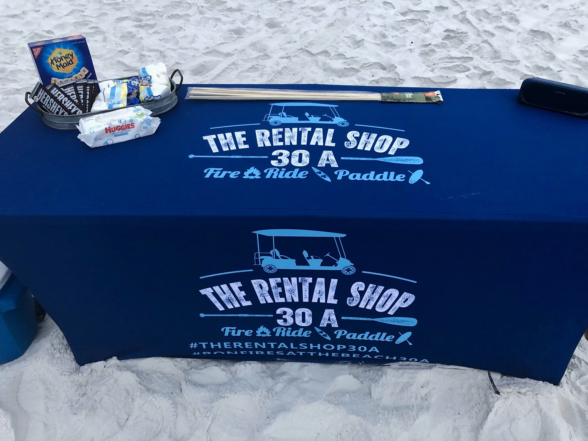 The Rental Shop 30A Smores with Beach Bonfire on table