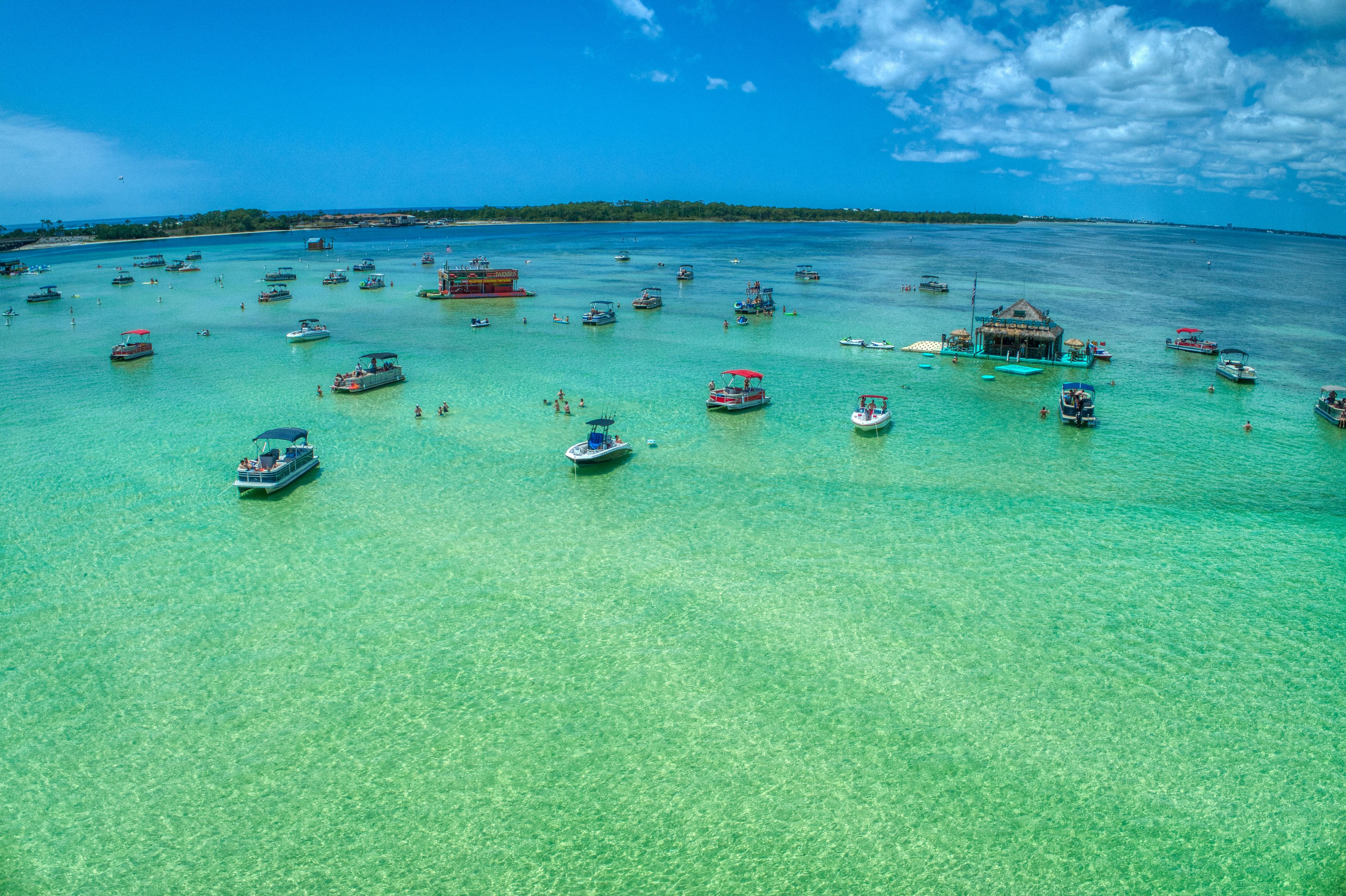 The Rental Shop 30A Boat Rental in Santa Rosa Beach Florida at crab island destin