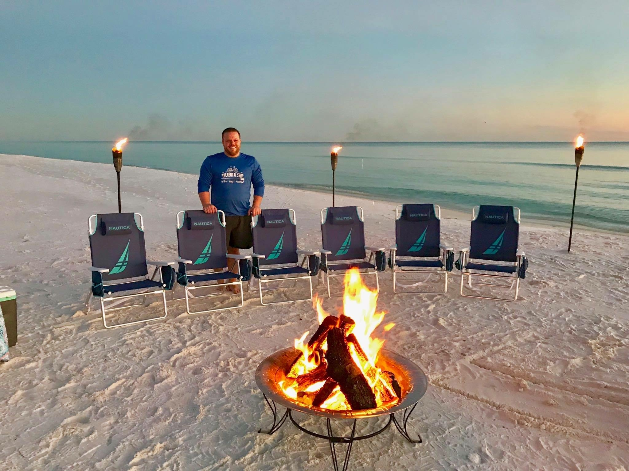 Cheap beach bonfire package by the rental shop 30A