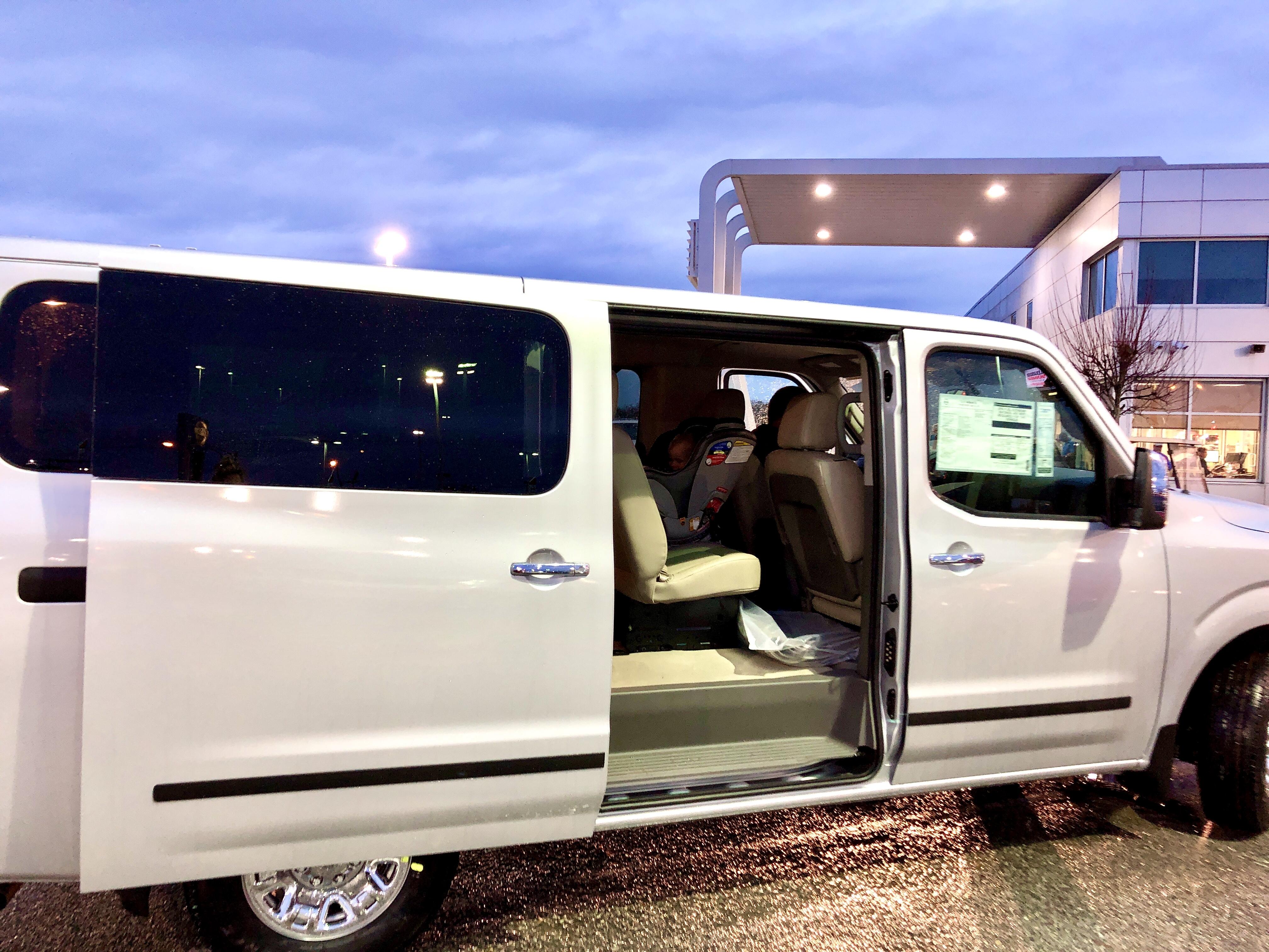 Large premium passenger van car rental Santa Rosa beach Fl